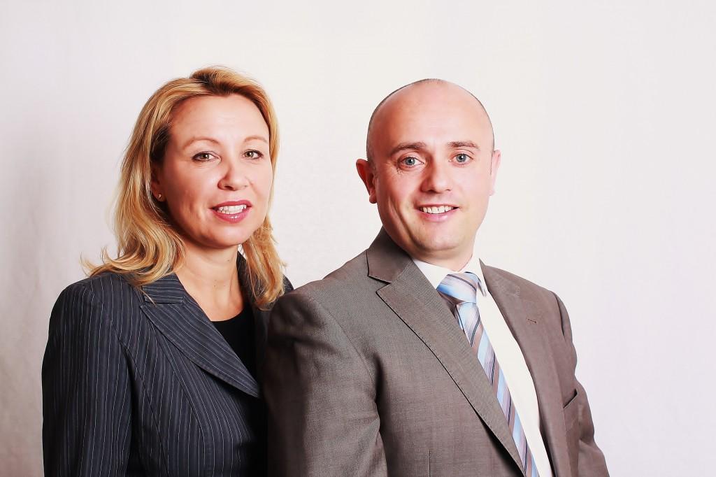 Adam Atkins and Helen Cooper