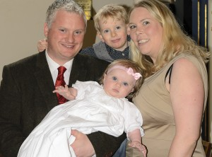 David with daughter Aoife, his son George and wife Tina.